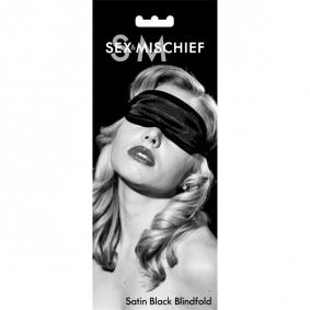 S&M Satin Blindfold - Black