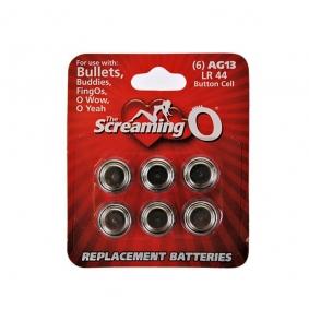Screaming O Card of 6 x AG13 batteries (LR44)