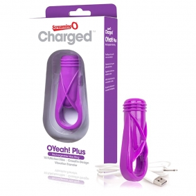 Screaming O Charged OYeah! Plus Rechargeable Vibe Ring - Purple